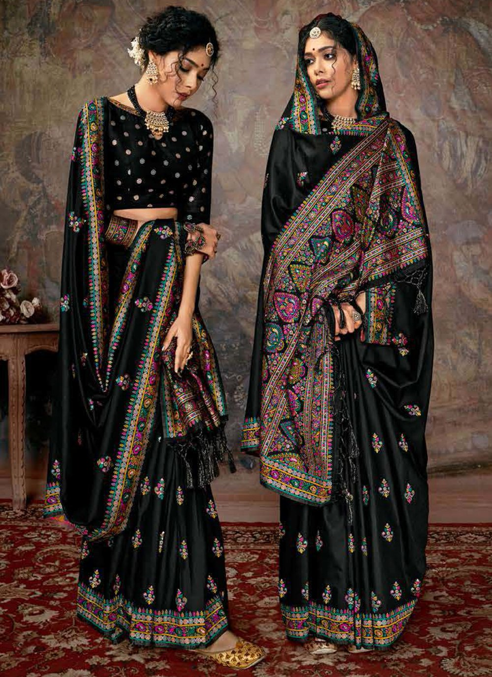 Digital Print Banarasi Silk Designer Saree