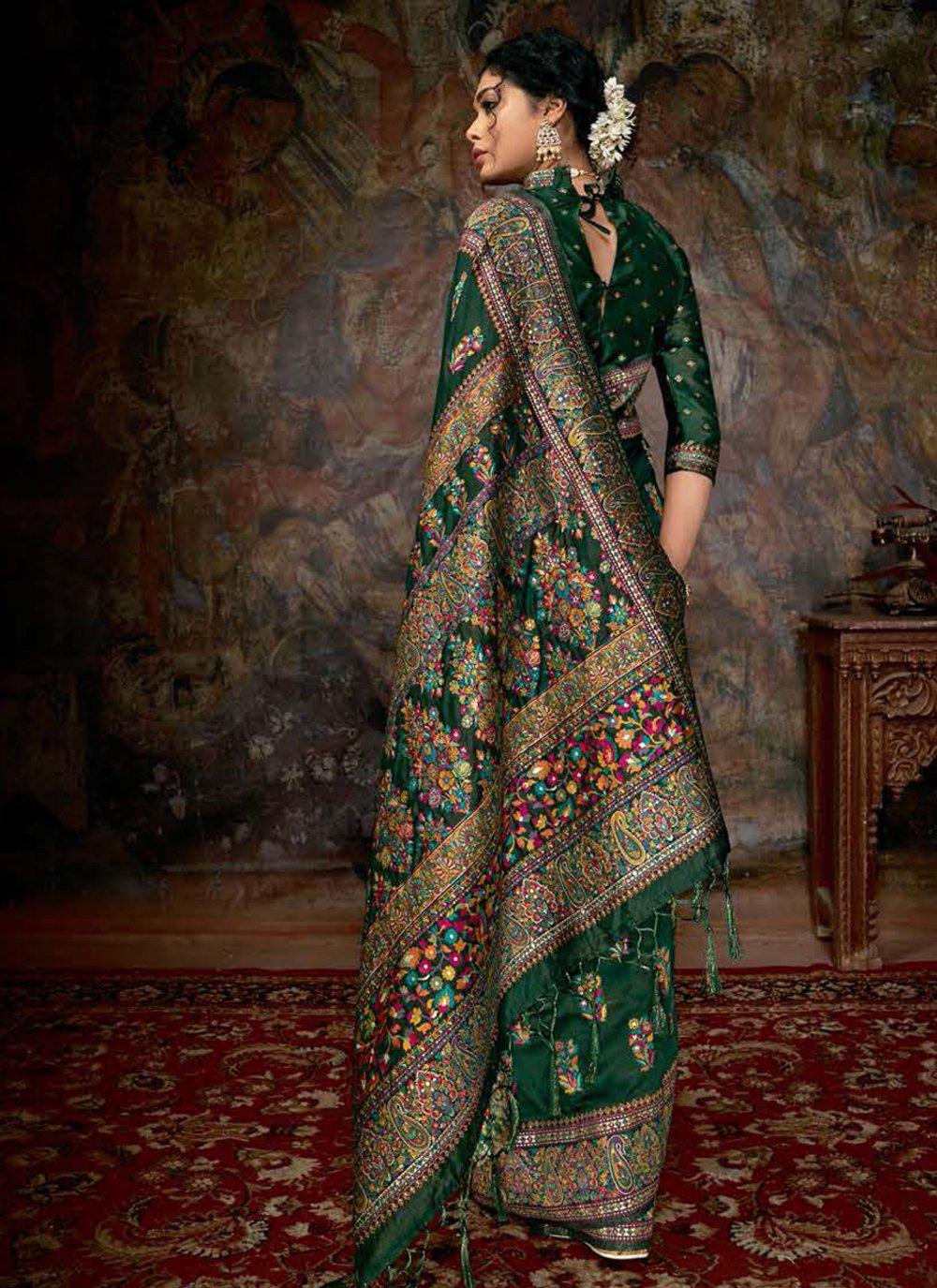 Digital Print Banarasi Silk Trendy Saree