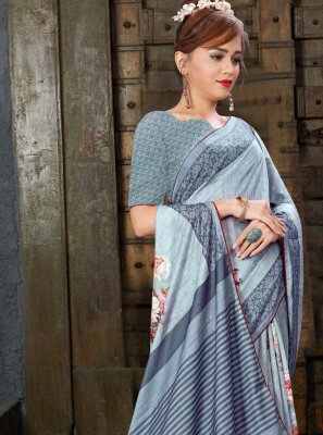 Digital Print Casual Classic Saree