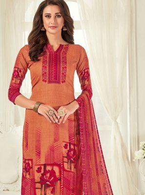 Digital Print Casual Trendy Palazzo Salwar Suit