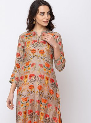 Digital Print Ceremonial Designer Kurti