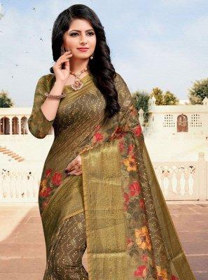 Digital Print Cotton Multi Colour Trendy Saree
