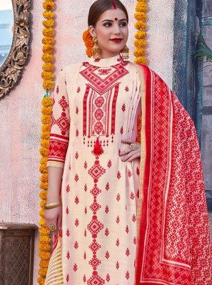 Digital Print Cotton Palazzo Designer Salwar Suit