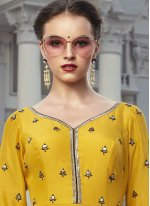 Digital Print Faux Georgette Trendy Gown