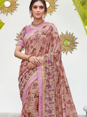 Digital Print Festival Casual Saree