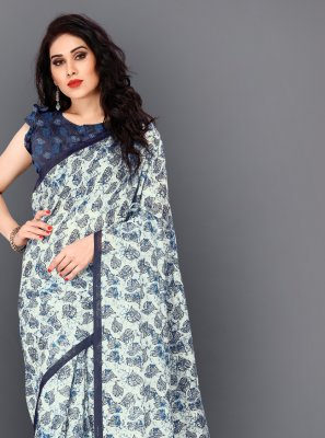 Digital Print Festival Trendy Saree