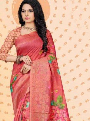 Digital Print Jacquard Traditional Designer Saree