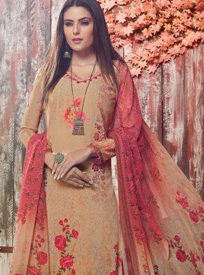 Digital Print Mehndi Trendy Palazzo Salwar Suit