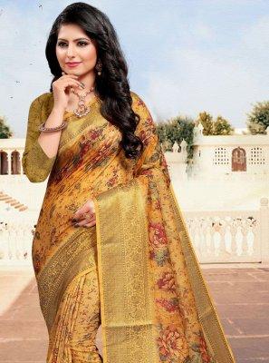 Digital Print Multi Colour Cotton Bollywood Saree
