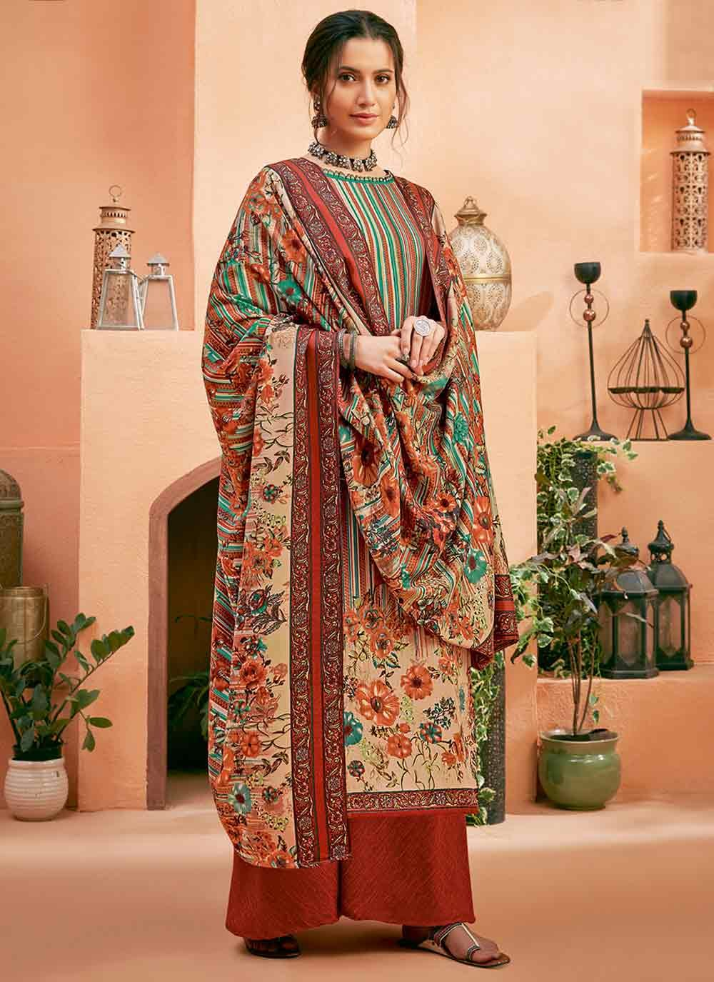 Digital Print Multi Colour Designer Salwar Kameez