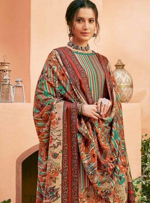 Digital Print Multi Colour Designer Salwar Kameez