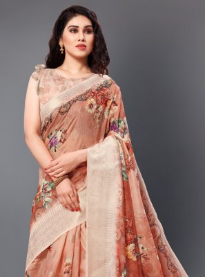 Digital Print Party Classic Saree