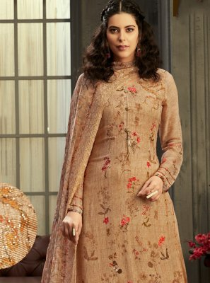 Digital Print Party Trendy Palazzo Salwar Suit
