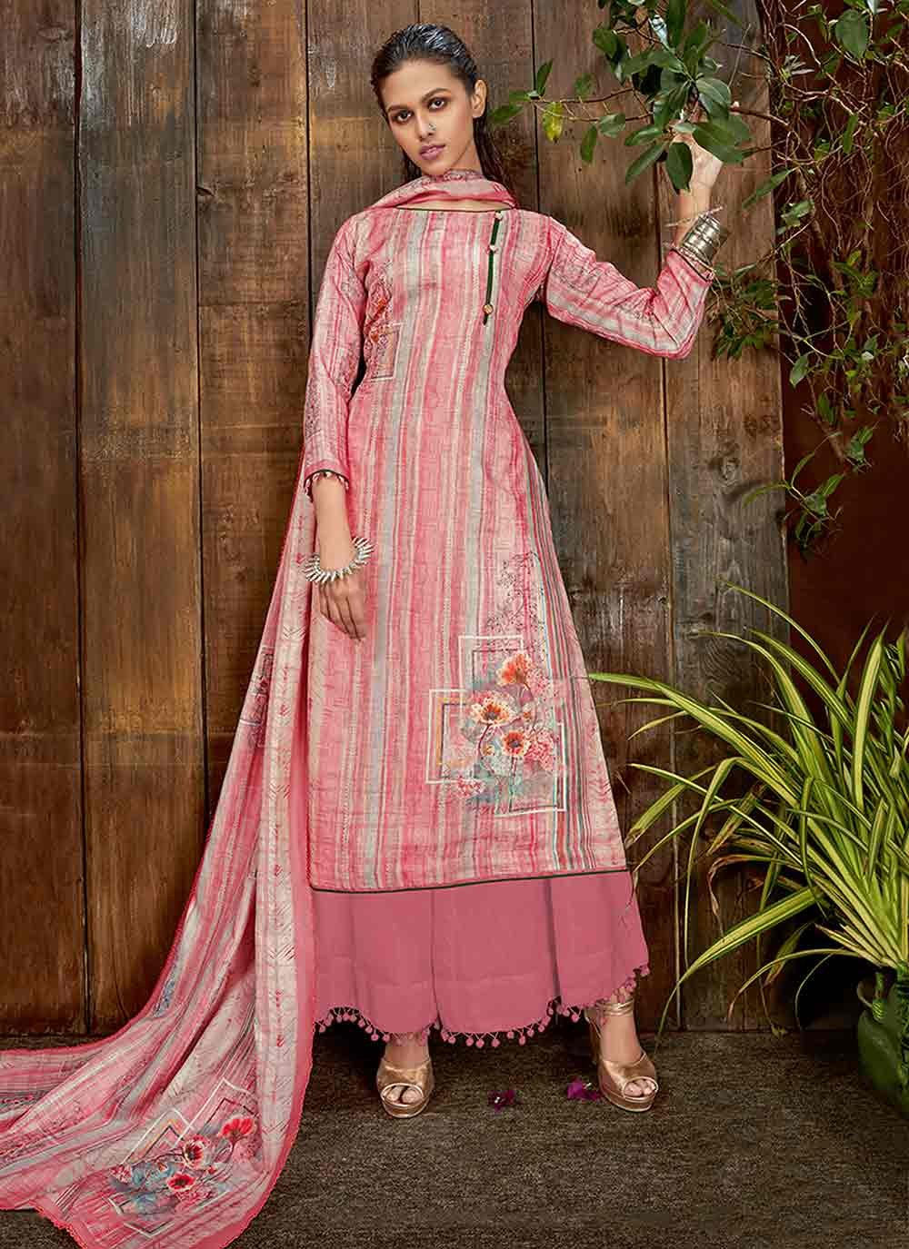 Digital Print Pashmina Bollywood Salwar Kameez