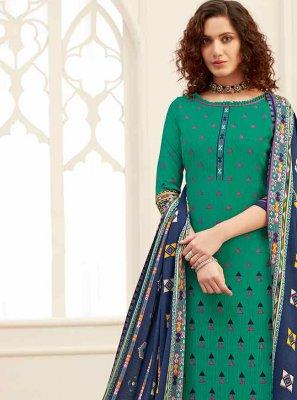 Digital Print Pashmina Designer Salwar Kameez