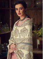 Digital Print Pashmina Mauve  Trendy Salwar Kameez