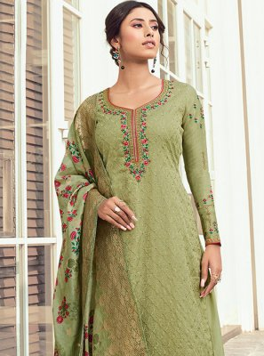 Digital Print Sea Green Salwar Kameez
