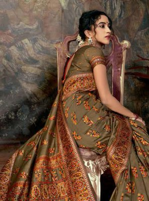 Digital Print Traditional Saree