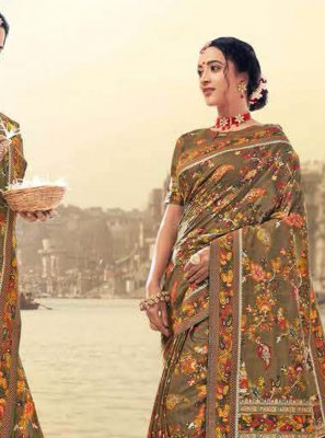 Digital Print Traditional Saree