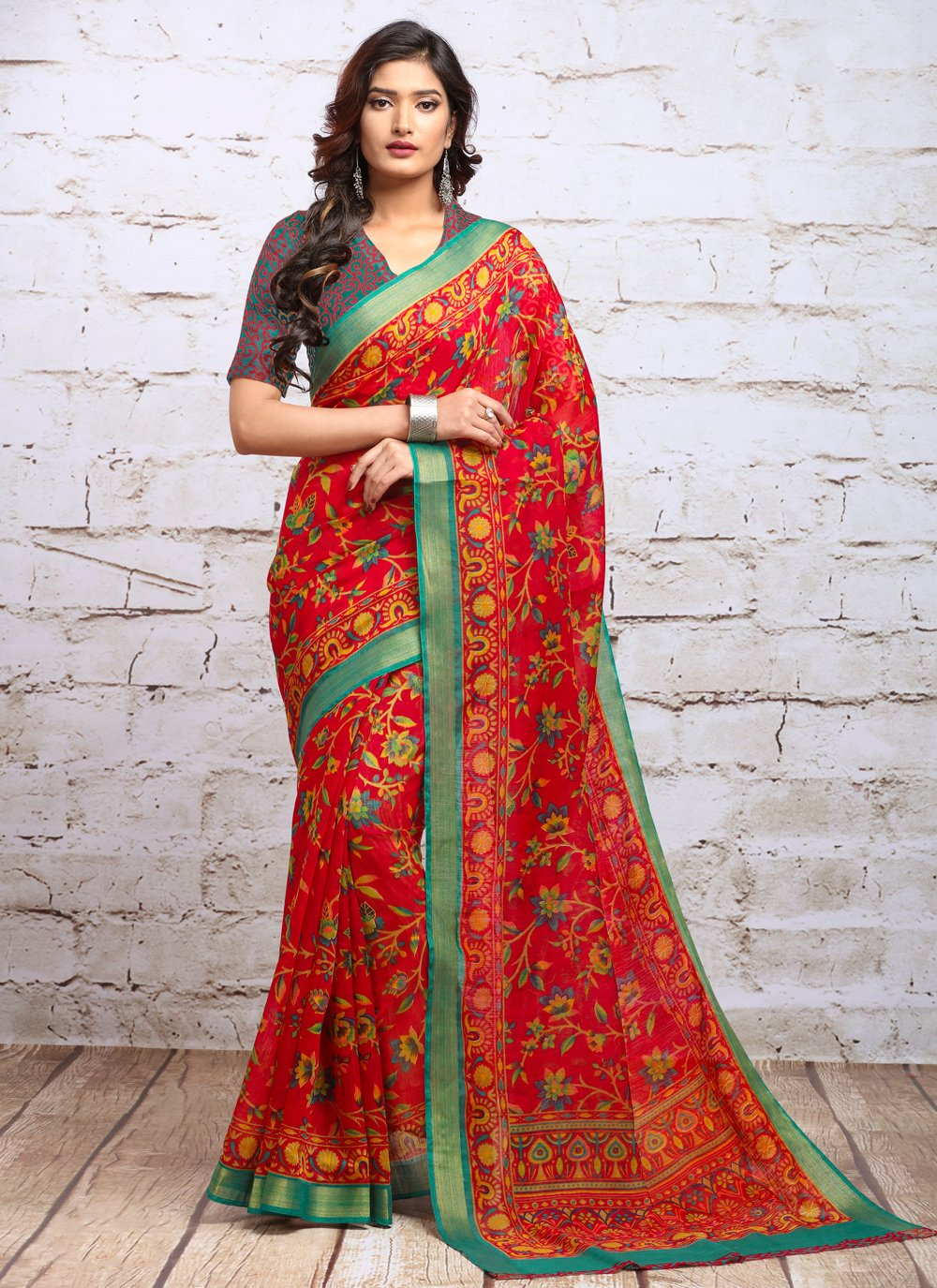 Digital Print Trendy Saree
