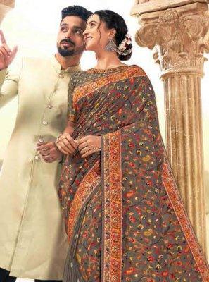 Digital Print Wedding Classic Saree