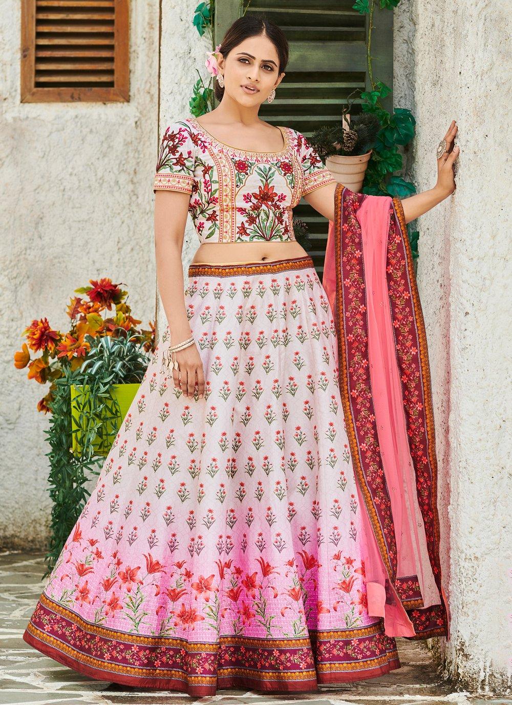 Digital Print Wedding Trendy Lehenga Choli