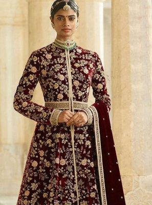 Dori Work Desinger Anarkali Suit