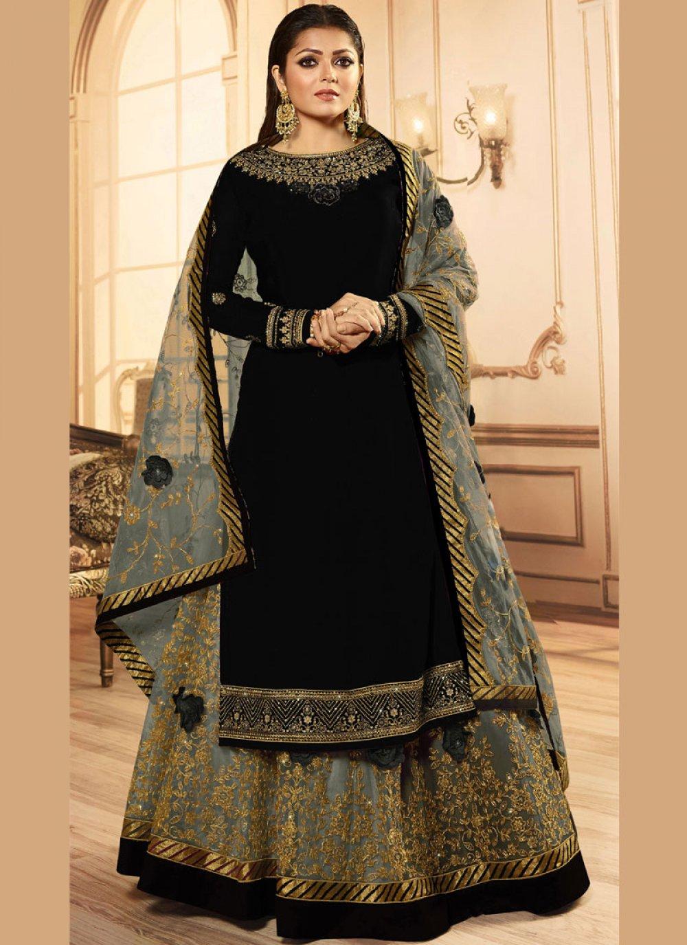 Drashti Dhami Black Lace A Line Lehenga Choli