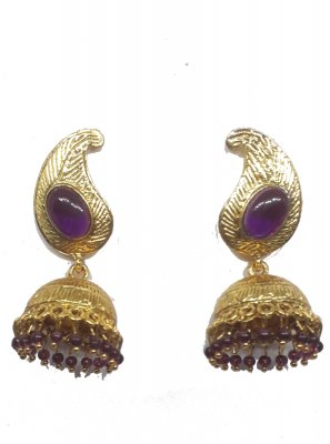 Ear Rings Stone Work in Gold