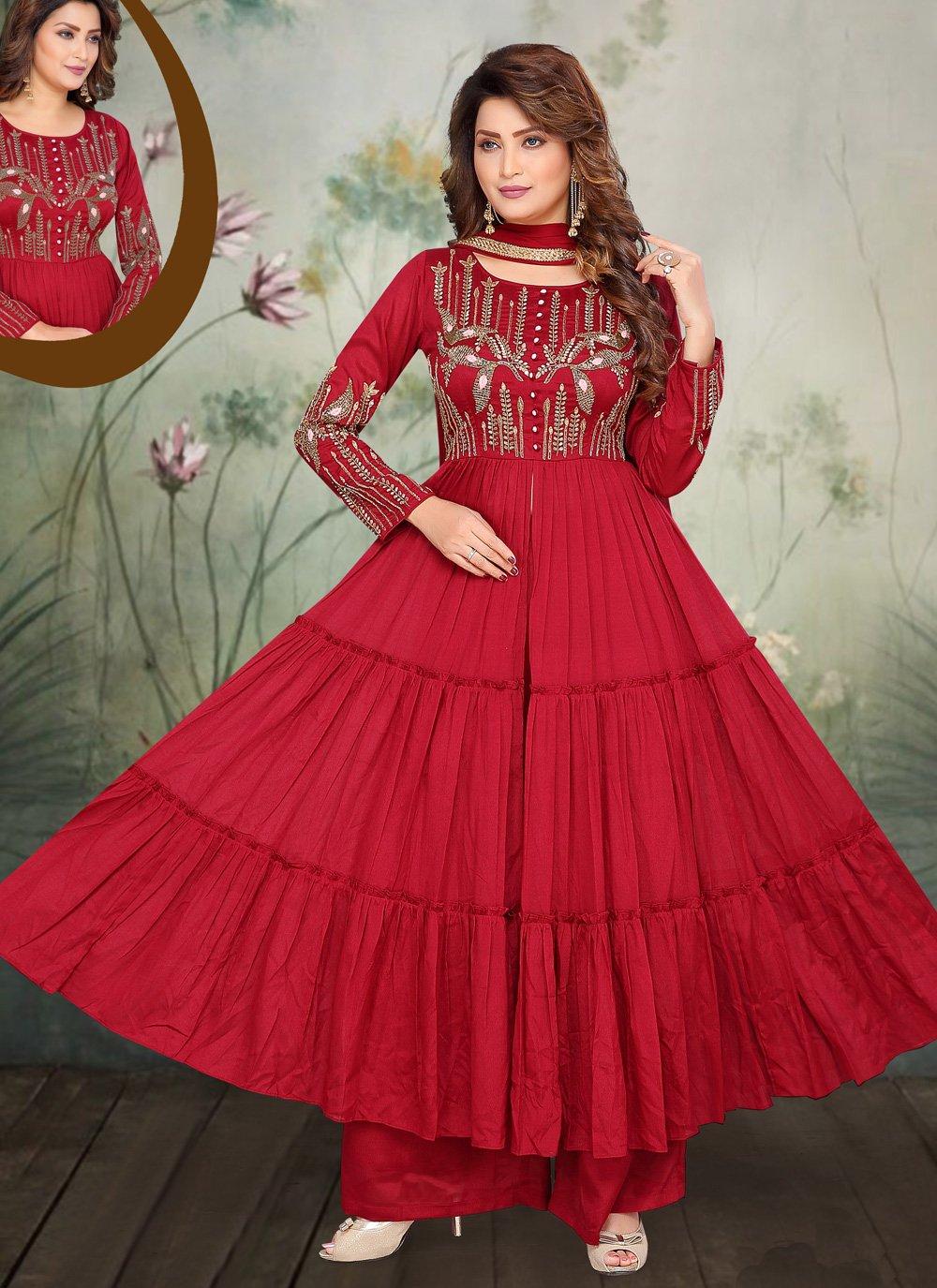 Embroidered Anarkali Salwar Suit
