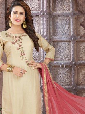 Embroidered Art Silk Bollywood Salwar Kameez