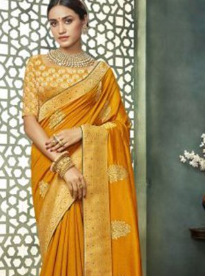 Embroidered Art Silk Classic Designer Saree