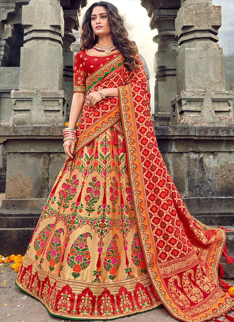 Embroidered Art Silk Designer Lehenga Choli