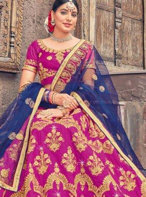 Embroidered Art Silk Designer Lehenga Choli in Pink