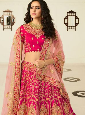 Embroidered Art Silk Lehenga Choli