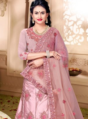 Embroidered Art Silk Trendy Lehenga Choli
