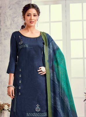 Embroidered Blue Salwar Suit