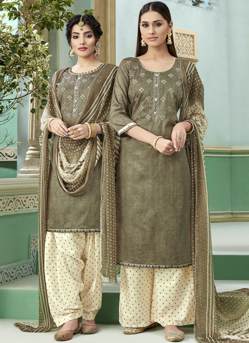 Embroidered Bridal Patiala Suit