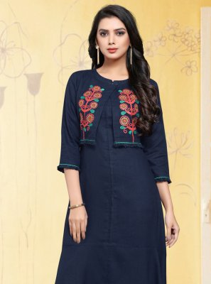 Embroidered Casual Casual Kurti