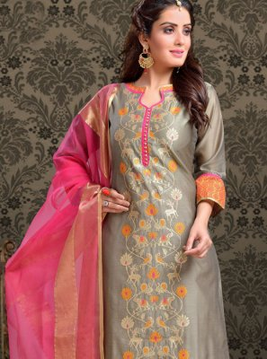 Embroidered Casual Trendy Churidar Salwar Kameez