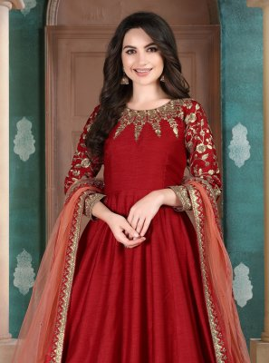 Embroidered Ceremonial Anarkali Suit
