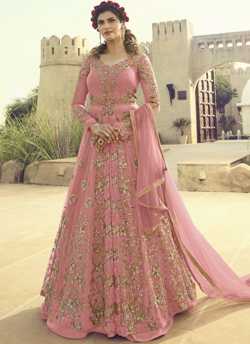 Embroidered Ceremonial Floor Length Anarkali Salwar Suit