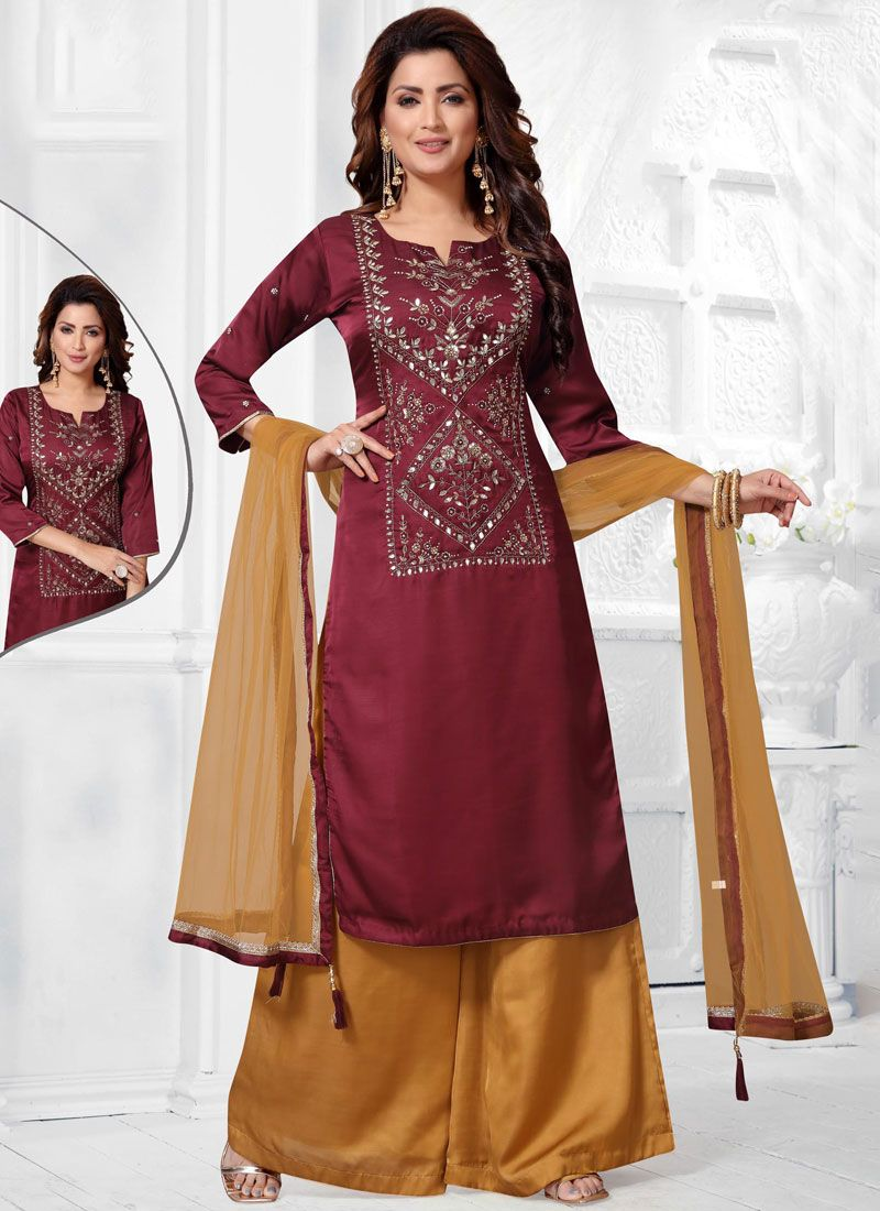 Embroidered Ceremonial Salwar Suit