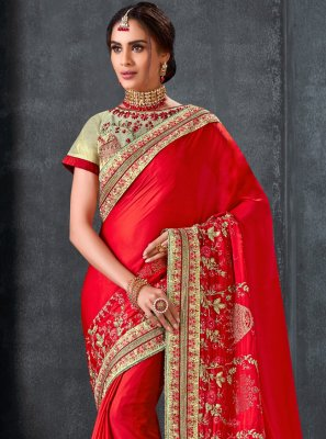 Embroidered Ceremonial Traditional Saree