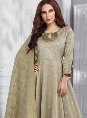 Embroidered Chanderi Designer Salwar Suit