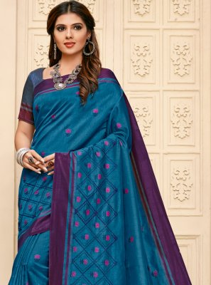 Embroidered Contemporary Saree