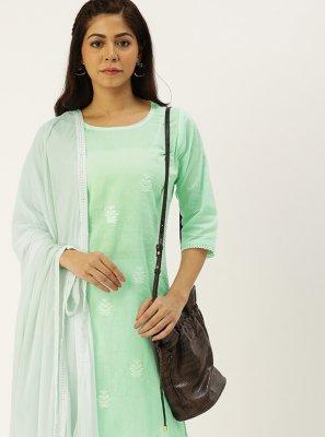 Embroidered Cotton Designer Straight Salwar Suit
