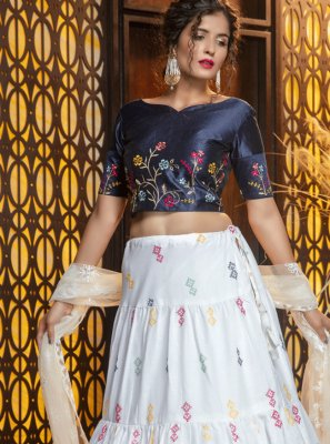 Embroidered Cotton Lehenga Choli