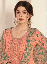 Embroidered Cotton Trendy Palazzo Salwar Kameez