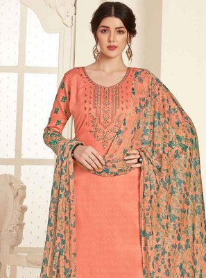 Embroidered Cotton Trendy Palazzo Salwar Kameez